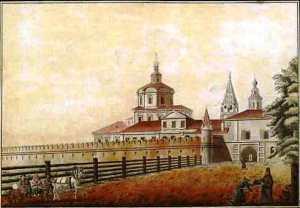 Вид Спасо-Андроникова монастыря на Рогожской в Москве Кампорези