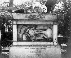 Памятник на могиле девицы графини Анны Булгари